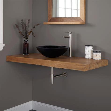 vanity top for vessel sink 49 teak bathroom vanity top creative bathroom decoration