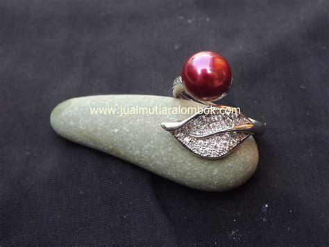 Cincin Rhodium Mutiara Air Laut 45 cincin mutiara lombok crmt 04 jual mutiara lombok murah