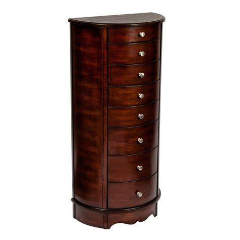 Mele Jewelry Armoire by Mele Corsica Walnut Finish Wooden Jewelry Armoire