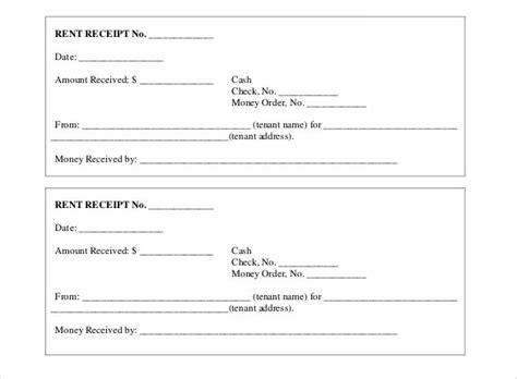 receipt rent template this printable rent receipt template helps you create rent