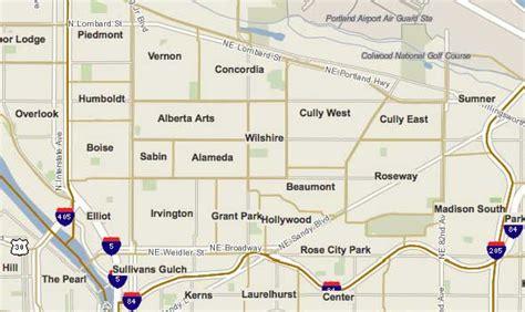portland neighborhood map yascha noonberg realty 187 ne portland neighborhoods