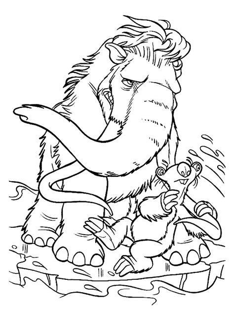 ice age cartoon free printable coloring pages books