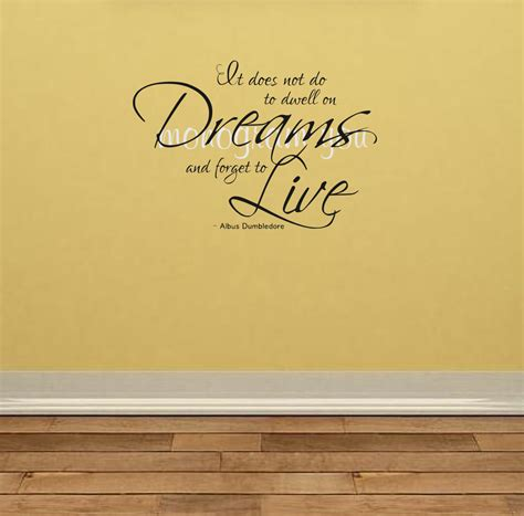 harry potter wall stickers harry potter wall decal it does not do to dwell on dreams