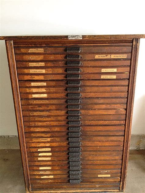 Cabinet Vintage by Reserved For Tamsin Hamilton Letterpress Cabinet