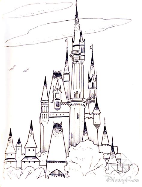cartoons coloring pages cinderella castle coloring pages