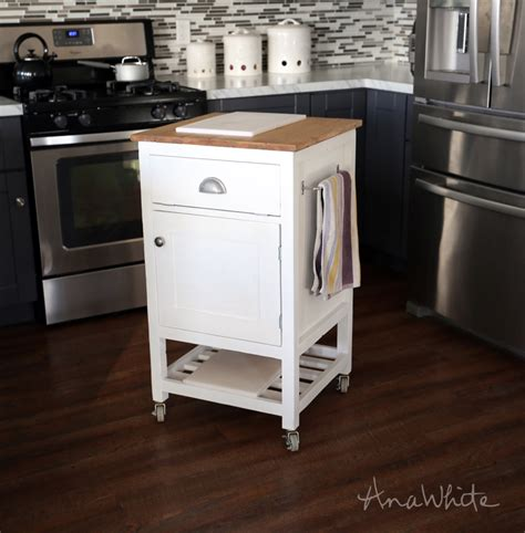 Small Kitchen Island Plans White How To Small Kitchen Island Prep Cart With Compost Diy Projects