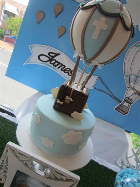 karas party ideas hot air balloon  boy christening birthday party planning ideas