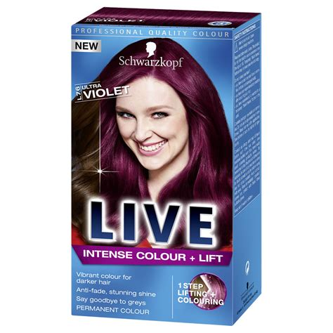 schwarzkopf live colour and lift ultra violet l76