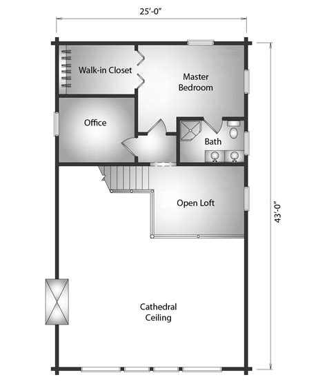 kodiak floor plans kodiak log cabin plan by katahdin cedar log homes
