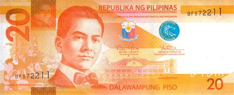 What Is L In Php by Philippine Twenty Peso Note