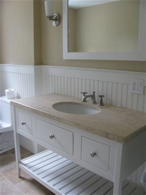 Shaker Open Style Bathroom Vanity with 3 Drawers