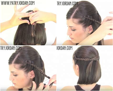 braids updo for short hairstep by step short hair easy hairstyles fade haircut