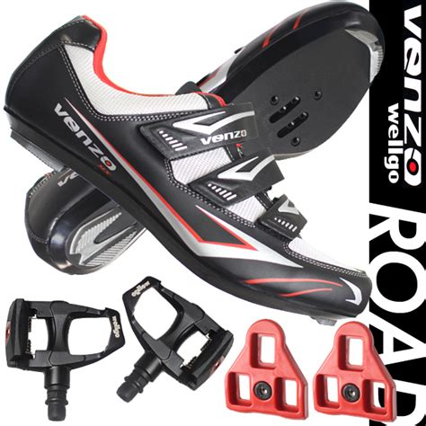 road bike cleats and shoes venzo road bike for shimano spd sl look cycling bicycle