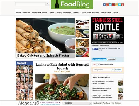 blogger themes food 30 best food wordpress themes for sharing recipes 2018