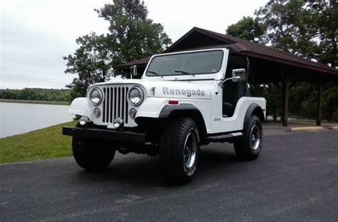 1975 Jeep Wrangler 1975 Jeep Cj5 Renegade Classic Jeep Wrangler 1975 For Sale
