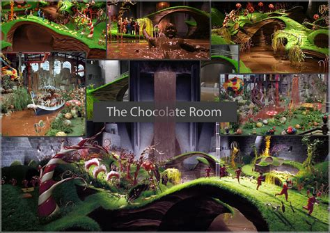 and the chocolate factory edible room and the chocolate factory original chocolate room
