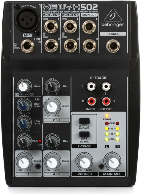 Mixer Xenyx 502 behringer xenyx 502 pa mixer 5 channel dj city