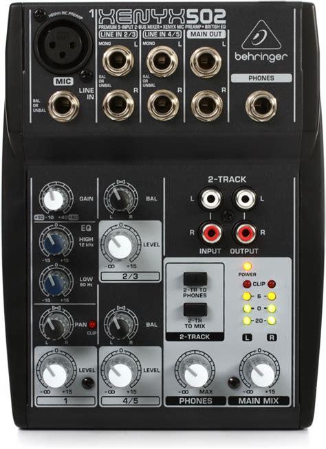 Mixer Behringer Xenyx 502 behringer xenyx 502 pa mixer 5 channel dj city