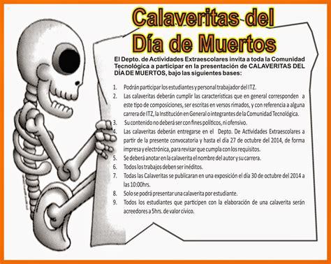 imagenes de calaveras literarias inventadas instituto tecnologico de zacatepec calaveritas del d 205 a
