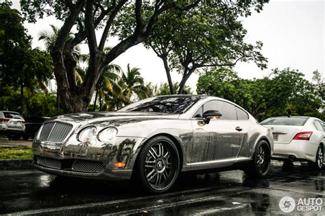 chrome bentley suited for miami chrome bentley continental gt