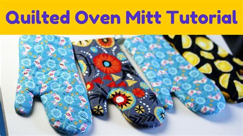 free pattern oven mitt how to make an oven mitt free pattern tutorial youtube