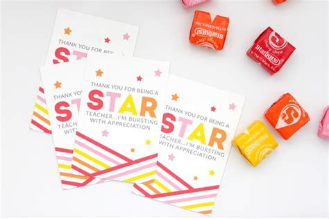 printable starburst teacher appreciation gift diy make do studio