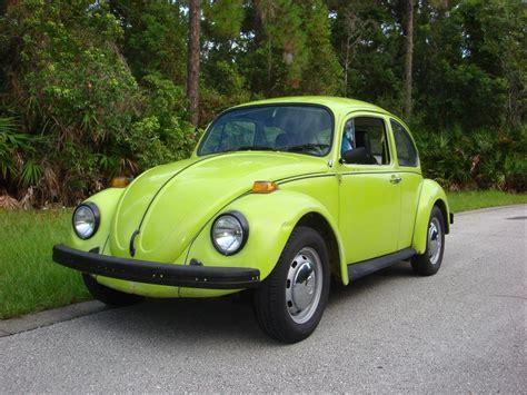 green volkswagen beetle beetle in my favorite color lime green slug bugs