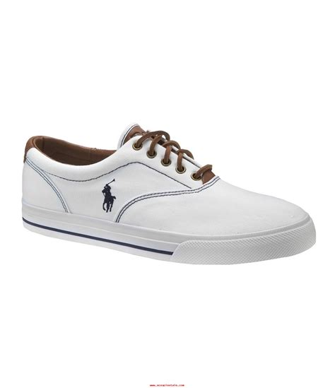 white and blue polo boat shoes men polo ralph lauren vaughn canvas shoes white acouplestale