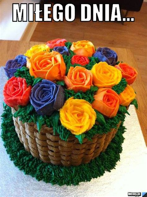 Flower Basket Wedding Cakes