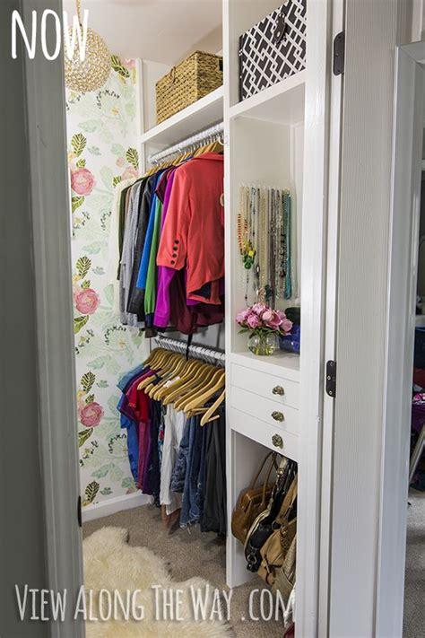 diy closet makeover on a tiny budget bedrooms