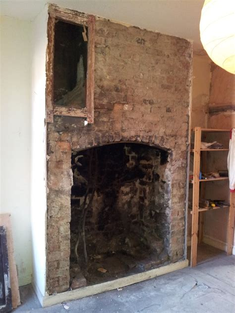 Cement Brick Fireplace by 23 Best Images About How To Expose A Brick Chimney Breast