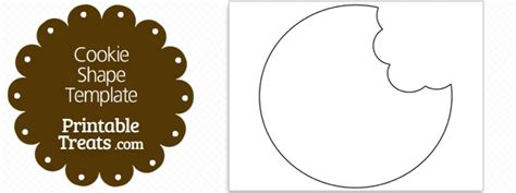 cookie template printable cookie missing bites shape template printable