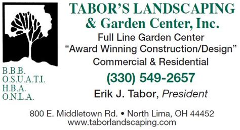 design center north lima oh tabor s landscaping garden center inc member