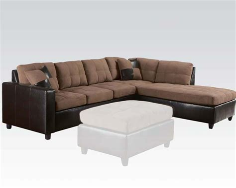 Acme Sectional Sofa Saddle Finish Reversible Sectional Sofa By Acme Ac51330