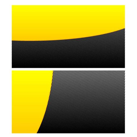 business card background templates black and yellow design at vectorportal
