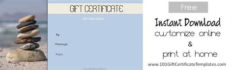 free printable gift certificate massage spa gift certificates