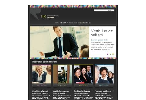 Human Resource Management Web Template Pack From Serif Com Human Resources Website Templates