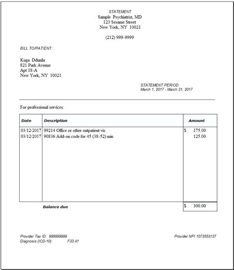 insurance receipt template insurance invoice sle insurance bill format kkey me