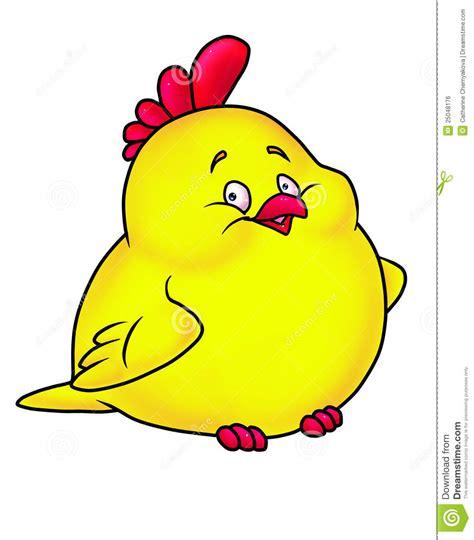 merry chicken yellow cartoon stock illustration illustration  kind picture