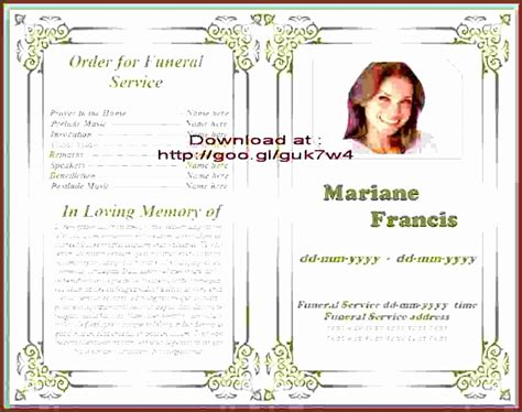 9 Download Free Funeral Program Template Sletemplatess Sletemplatess Free Funeral Program Template For Word