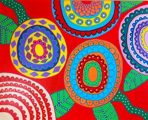 Simply Me Graphic 18 Original Oceanseven kerri ambrosino needlepoint mexican folk pop