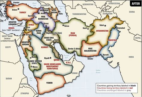 middle east map new blood borders a to redraw a quot new middle east