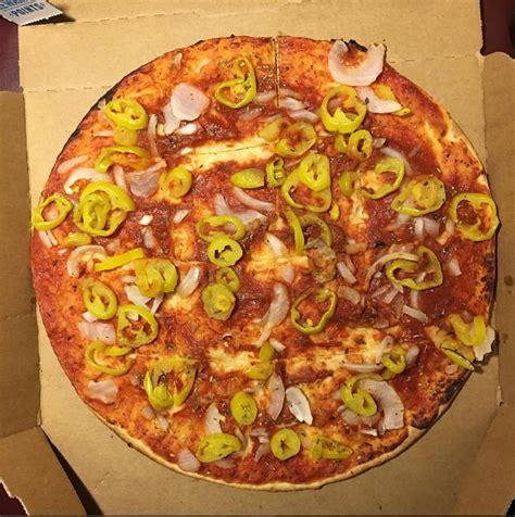 domino pizza vegan domino s vegan thin crust veggie pizza with peppers