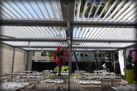 motorized aluminum pergola louver closing roof