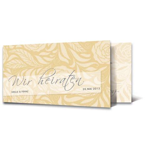 Einladungskarten Hochzeit Gelb by Einladungskarte Hochzeit Motiv Floral Gelb
