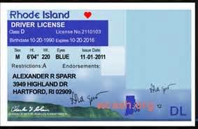 drivers license template template rhode island drivers license editable photoshop