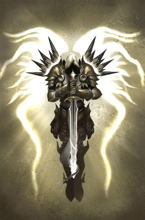 angel justice tattoo tyrael archangel of justice by shidiwenbrown on deviantart