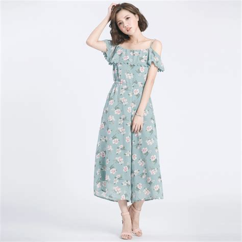 Dress Mayuki mayuki womens cold shoulder jumpsuit in floral print