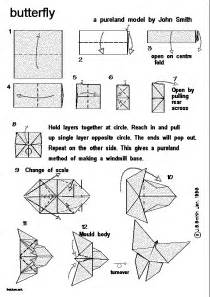 Simple origami instructions butterfly
