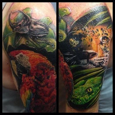 jungle theme tattoos 50 best jungle theme tattoos images on